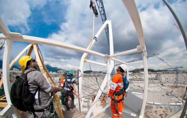 Rio 2016 travaux constructions francs jeux