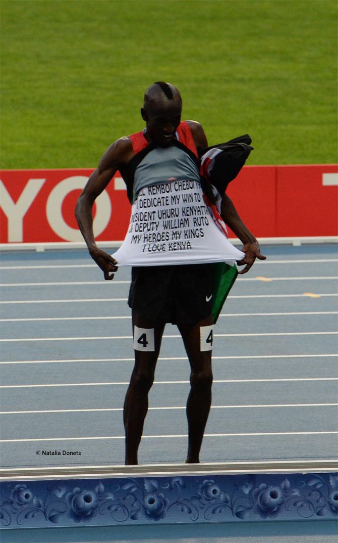 Ezekiel Kemboi un titre de plus sur le 3000 mètres steeple