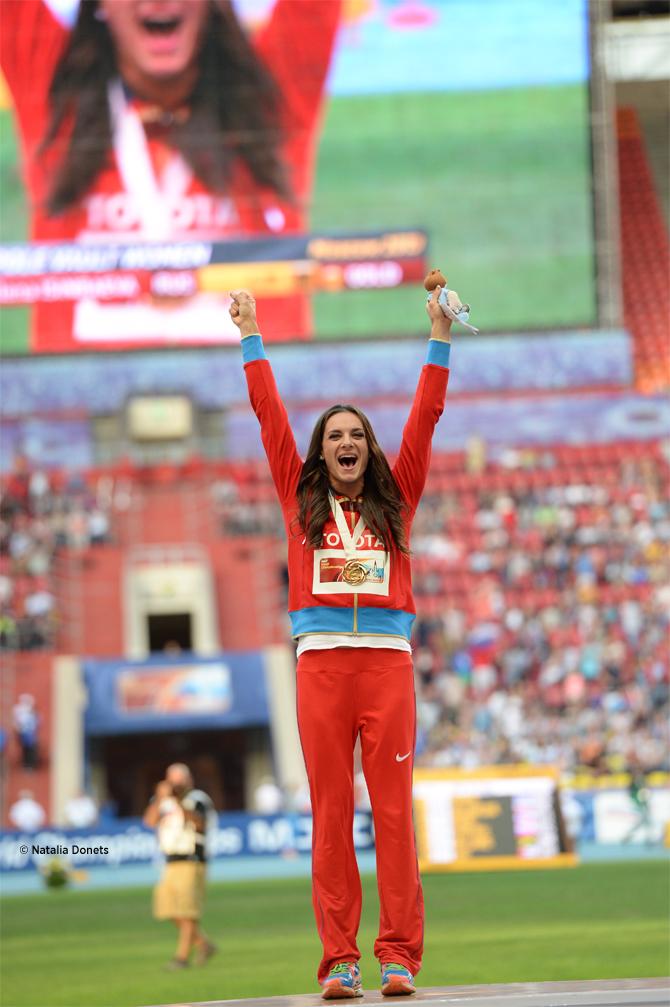 Yelena Isinbayeva un titre mondial pour mettre fin à sa carrière