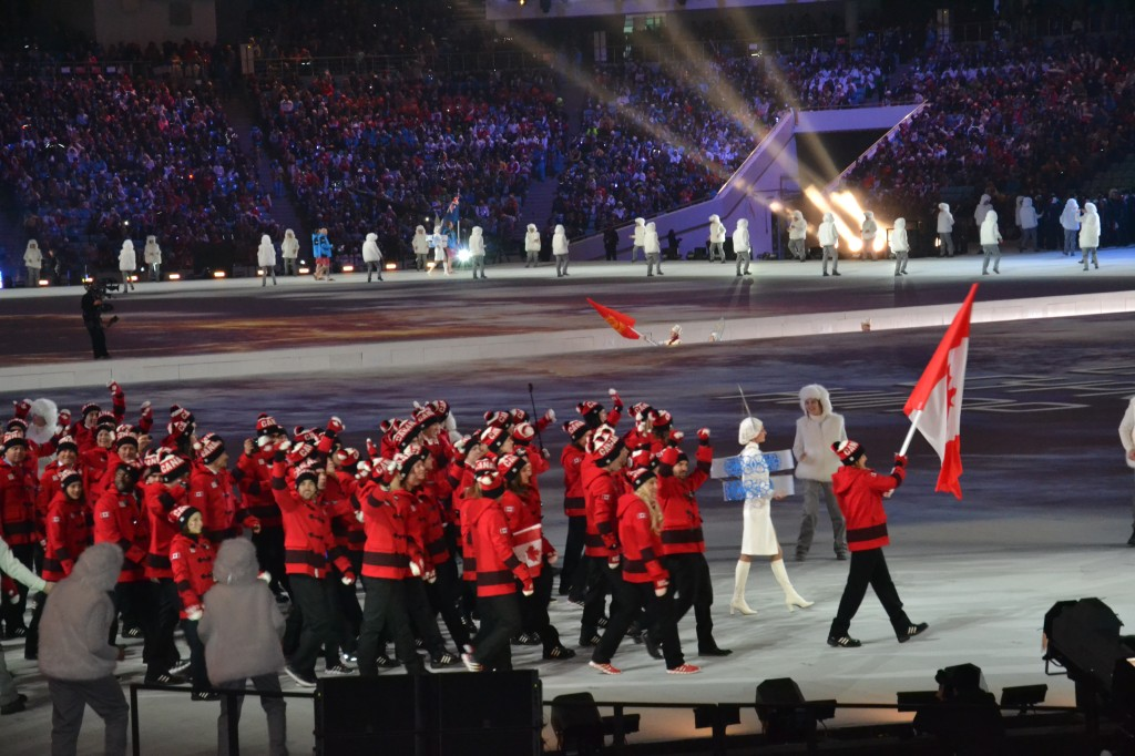 Le Canada défile !