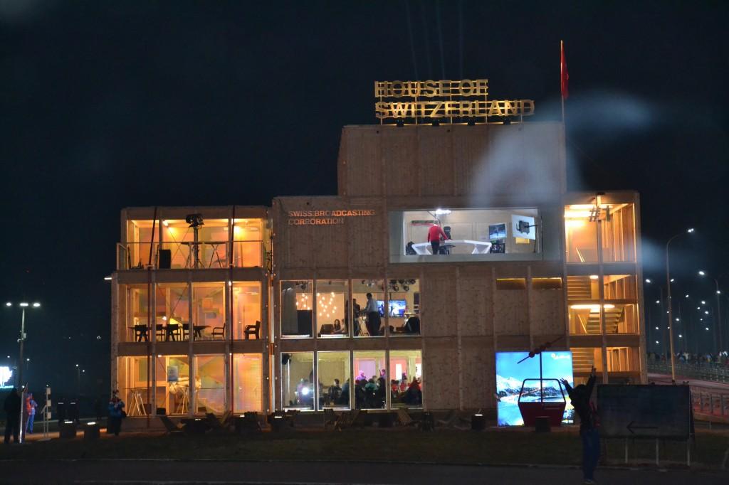 La maison suisse, en plein parc olympique