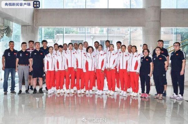 Chinese sailing team
