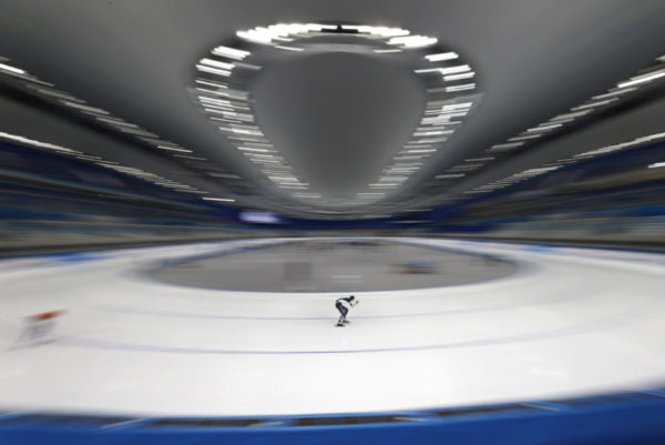 In Beijing, the skaters noticed no spectator
